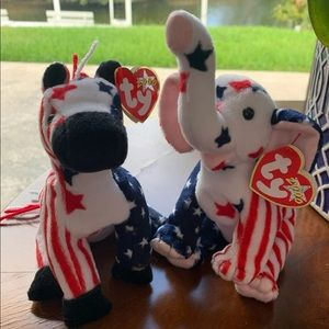 Ty Beanie Babies 2000 Righty and Lefty